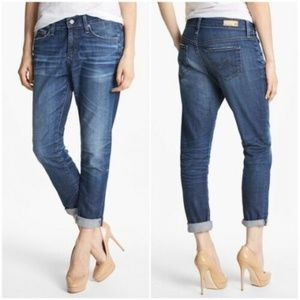 AG Jeans The Beau Slouchy Skinny Dark Crop Denim